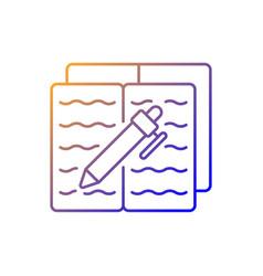 Homework gradient linear icon vector