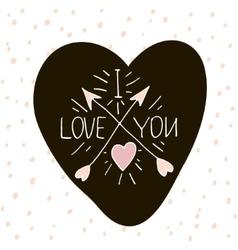 I love you Handwritten unique lettering Creative vector image