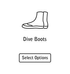 Icon boots scuba diving equipment vector
