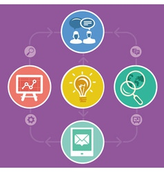 Internet marketing strategy - icons and vector