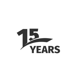Isolated abstract black 15th anniversary logo vector