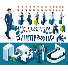 isometric set 1 create your character vector image