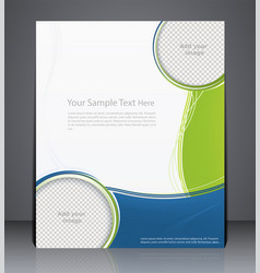 Layout business brochure magazine cover vector