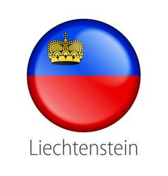 Liechtenstein round button flag vector