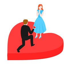 man propose to woman vector image