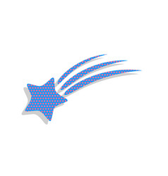 Meteor shower sign neon blue icon with vector