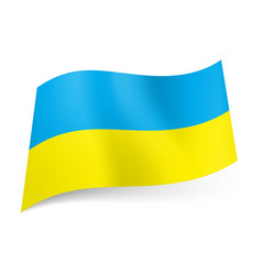 National flag of ukraine blue and yellow vector