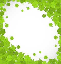 natural frame with clovers for st patricks day vector image