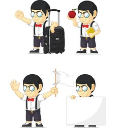 Nerd Boy Customizable Mascot 8 vector image