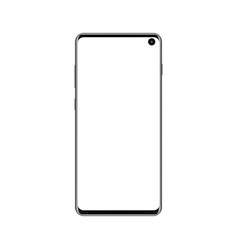 new modern frameless mobile phone mock up vector image