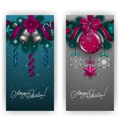 New year s background - a garland of fir branches vector