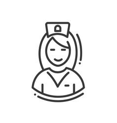 nurse - line design single isolated icon vector image