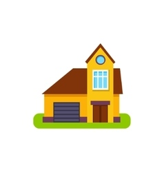 One Window Suburban House Exterior Design With vector