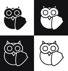 Owl logo with shell symbol of education security vector