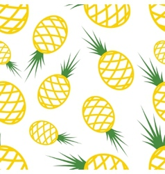 Pattern Circuit Pineapples vector
