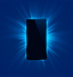 Phone cover color design modern blue background vector