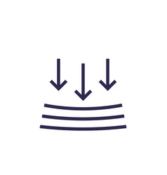 Pressure resistance sign vector