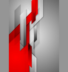 Red grey abstract hi-tech motion background vector image