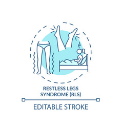 Restless legs syndrome turquoise concept icon vector