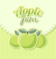 Retro apple jam label vector