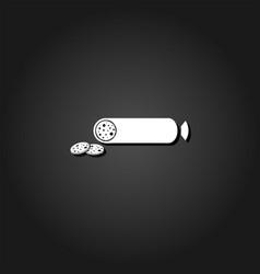 sausage icon flat vector image