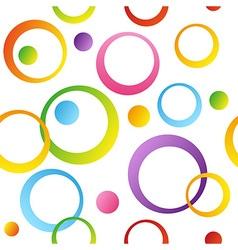 Seamless circles vector