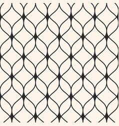 Seamless pattern background thin wavy lines vector