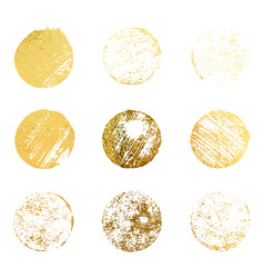 set gold rubber stamp luxury golden vintage vector image