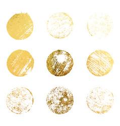 set gold rubber stamp luxury golden vintage vector image