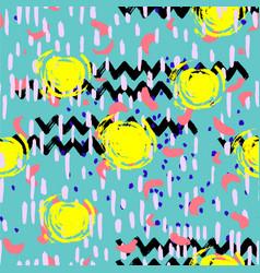 set hand drawn seamless pattern made vector image