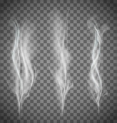 Set of transparent white smoke vector