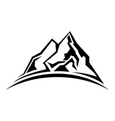 Simple mountain silhouette vector