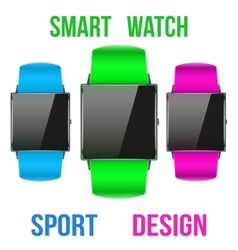 Smart design example sport wrist watch vector