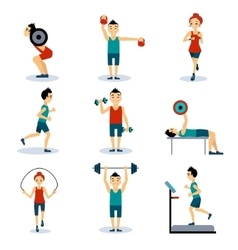 Sport and leisure people activities vector