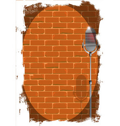 Stand up night wall grunge vector