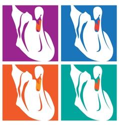 swans pop art vector image