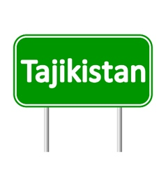 Tajikistan road sign vector