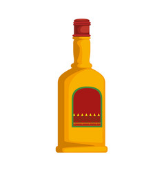 Tequila bottle isolated icon vector