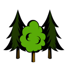 three tree icon cartoon vector image