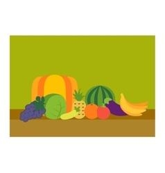 Tropical fruits set vector image