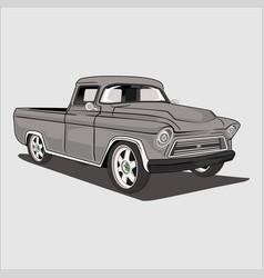 Truck car classic retro vector