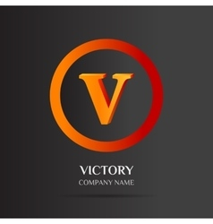 V Letter logo abstract design vector image