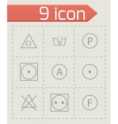 washing signs icons set vector image