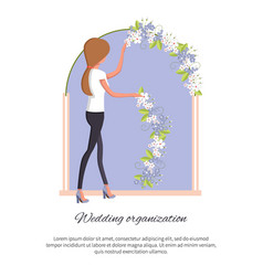 Wedding organization poster vector