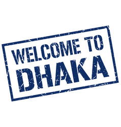 Welcome to dhaka stamp vector