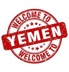 welcome to Yemen vector image