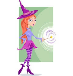 witch or fairy fantasy cartoon vector image