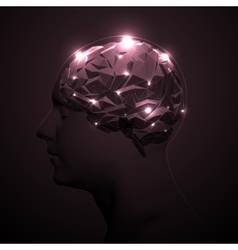 Abstract Human Brain vector image