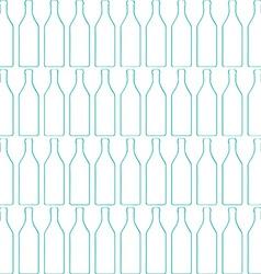 Bottle silhouette pattern vector image