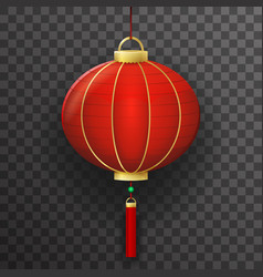 chinese paper lantern sign transparent background vector image vector image